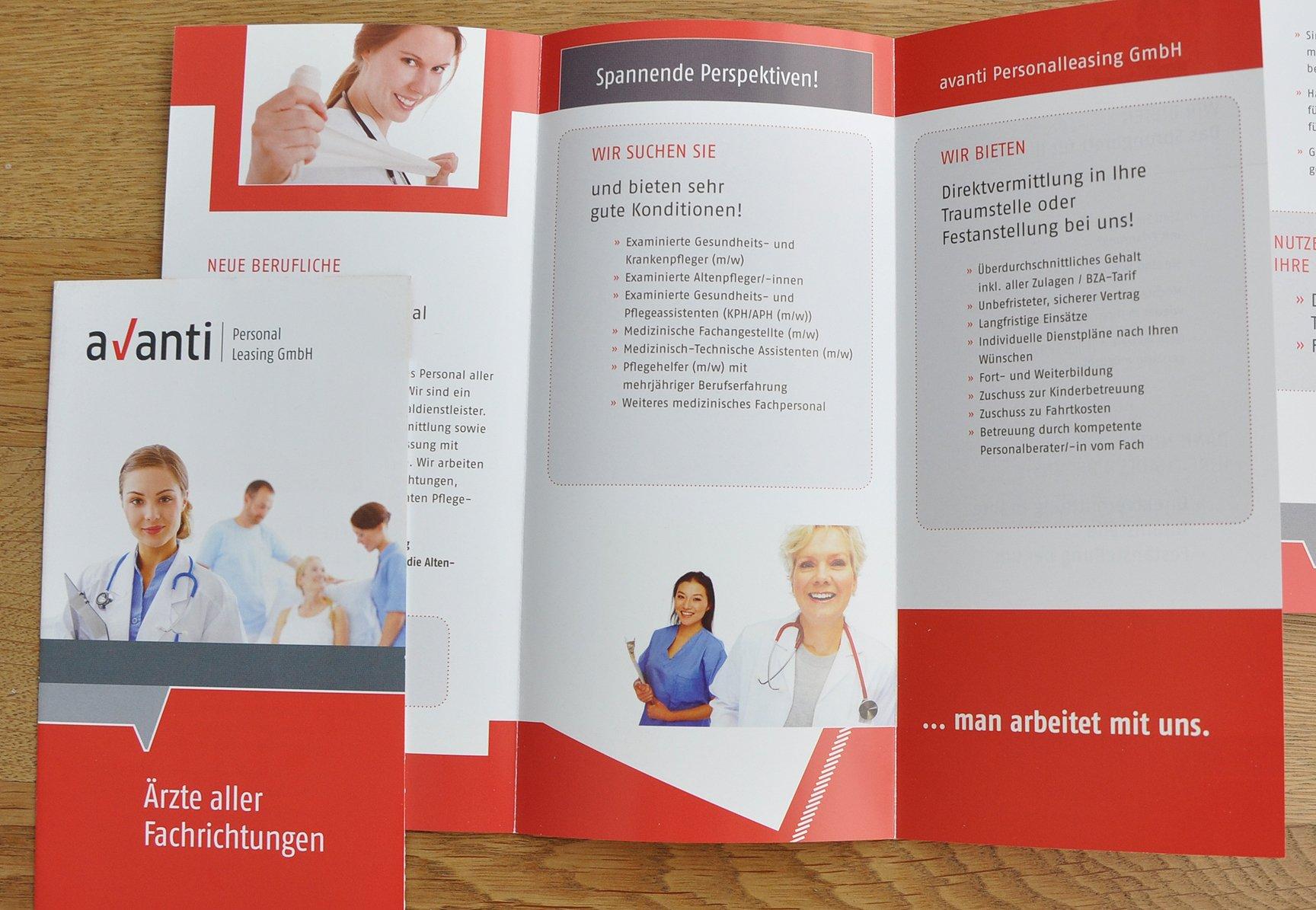 Flyer Gestaltung für die Personalvermittlung