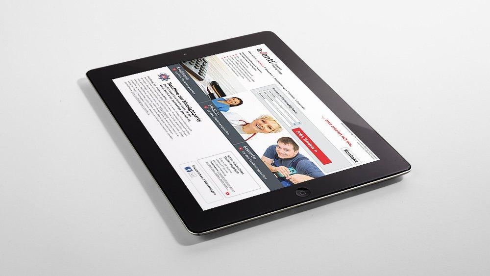 Interface Design / Webdesign für die Personalberatung