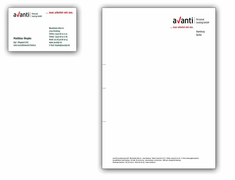 Gestaltung der Geschäftsausstattung für die Personalvermittlung. / Neues Corporate Design
