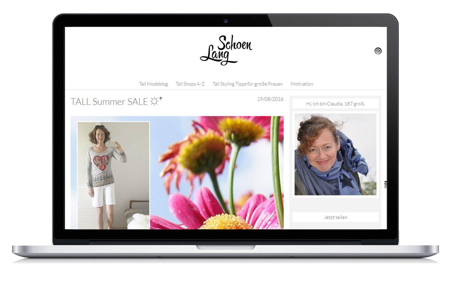 Portfolio Modeblog für große Frauen.