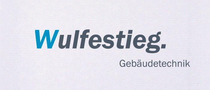 Logodesign für die Firma Wulfestieg Gebäudetechnik in Hannover. Gestaltung einer neuen Wortmarke. Ich gestalte Ihr neues Firmenlogo oder überarbeite Ihr vorhandenes.