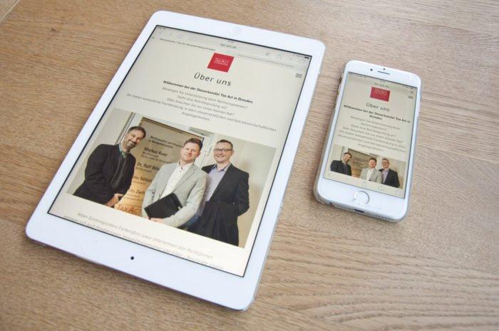 Responsiv Webdesign für die Steuerkanzlei TAX ACT in Dresden