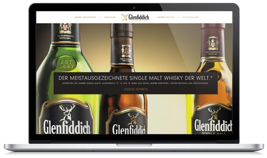 Digitales Branding für die Marke Glenfiddich - Relaunch der Website