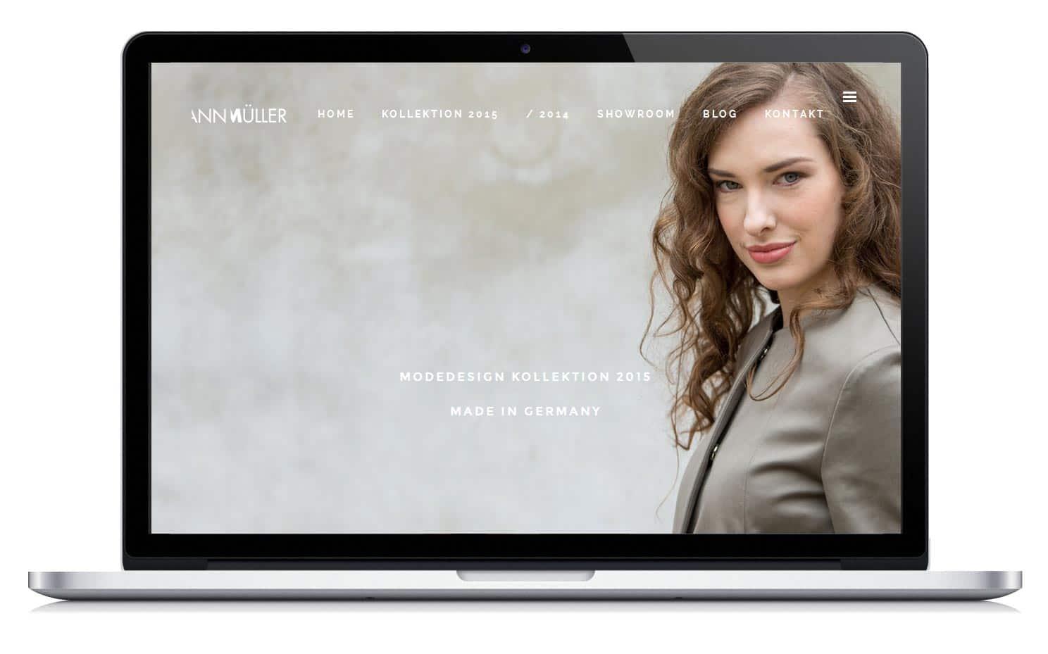 Homepage für die Modedesignerin Ann Müller.