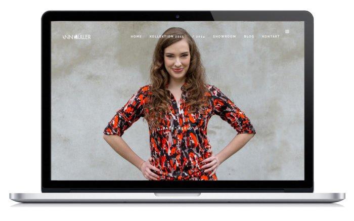 Homepage - Gestaltung und Umsetzung der Website für die Modedesignerin.
