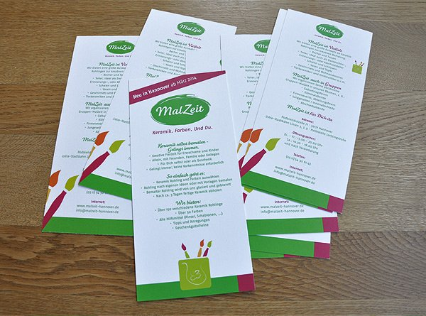Flyer für das Keramik Malstudio in der List in Hannover. Sie wollen auch einen Flyer erstellen lassen?