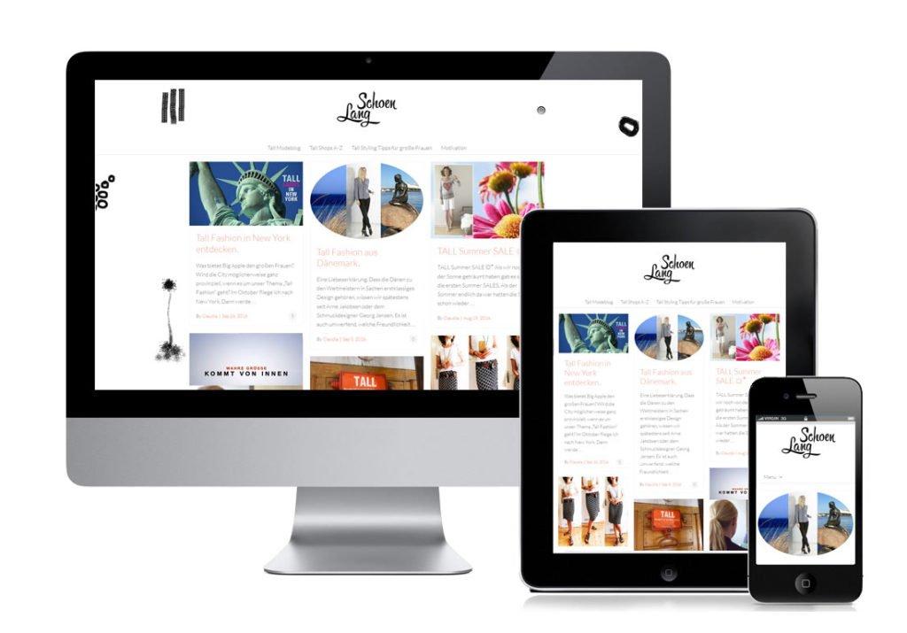 Portfolio - Responsive Webdesign / Branding für einen Modeblog.
