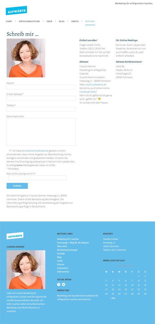 Kontaktseite mit Autoresponder - Über den freut man sich wenn man sofort nach dem Versenden der Nachricht eine nette Antwort bekommt.