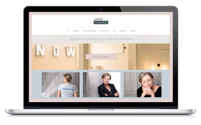 Neue Homepage für Frau Schwarze - Sie ist Coach für Selbsterneuerung.