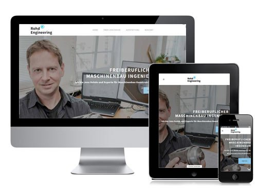 Responsive Webdesign mit Wordpress für Rohde Engineering.