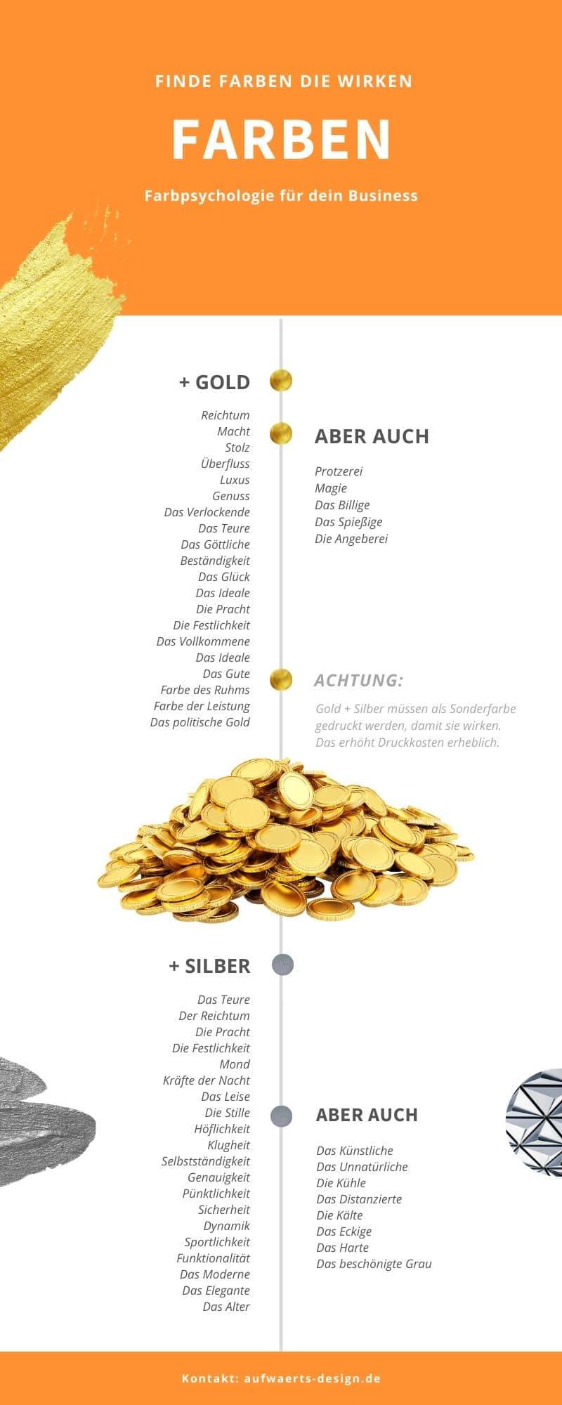 Farbpsychologie: Gold und Silber. Wie die Farben auf uns wirken.