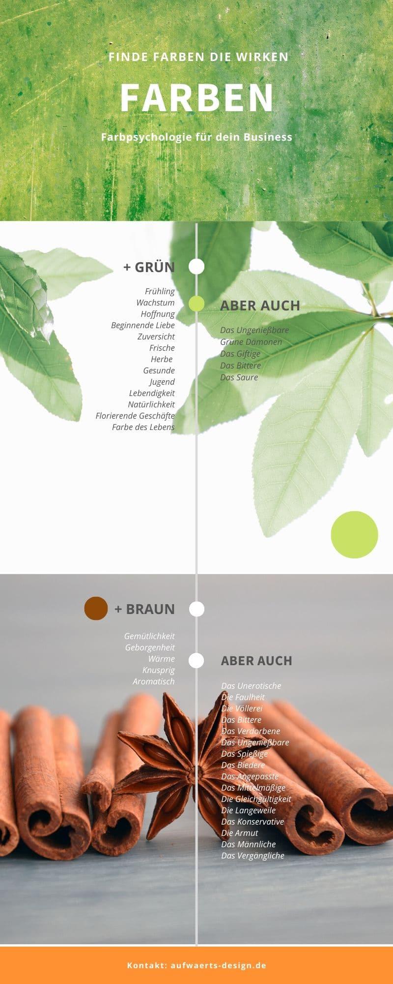 Farbpsychologie: Grün und Braun. So wirken die Farben auf uns.