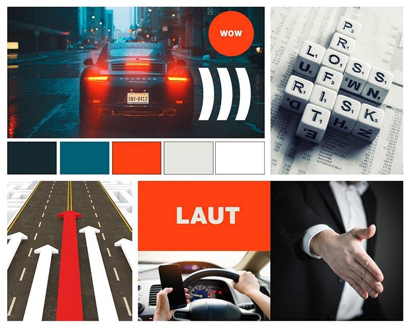 Moodboard: Schnell, laut, dynamisch, riskant, Gewinner