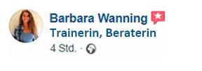 Moodboard erstellen: Barbara ist vom Workshop begeistert.
