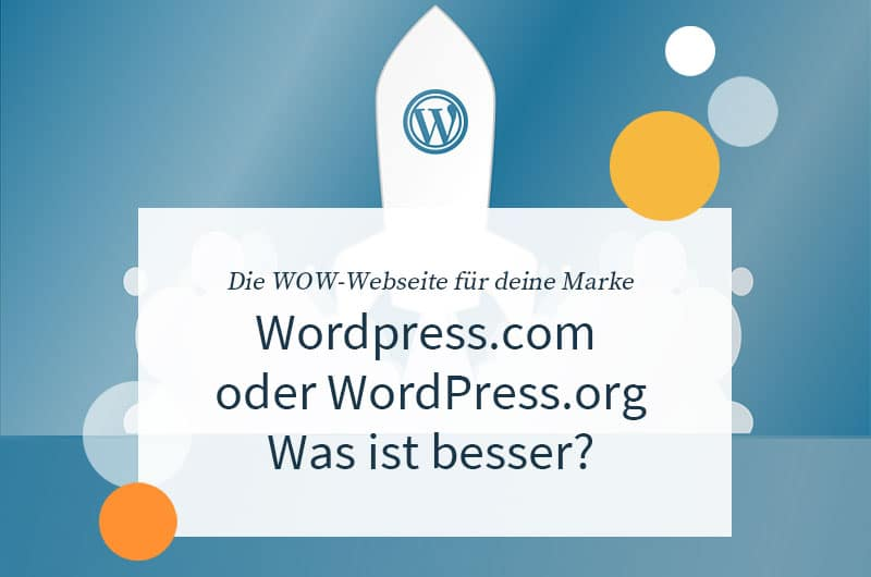 Wordpress.org oder Wordpress.com - Was ist besser?